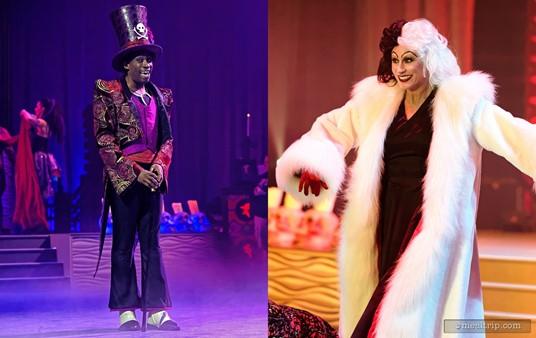 Dr. Facilier and Cruella De Vil at Club Villain.