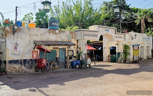 The front entrance to the Harambe Market area.