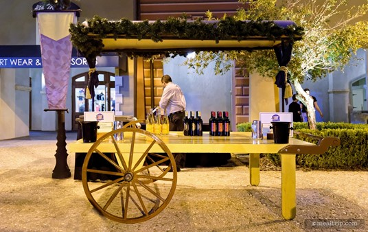 Occasionally you will find a duplicate wine cart, but because there are at least a dozen different wines to sample at each of the Harbor Night events, most carts offer a unique selection.