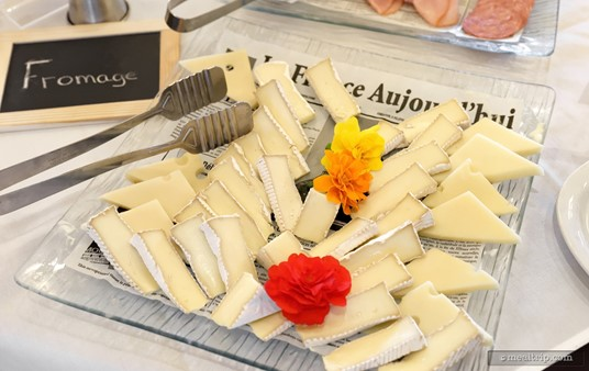 The Fromage Selection Platter offers two or three selections of French cheese.