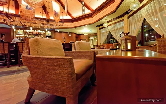 """Here's a close up of one of the giant chairs at the Nomad Lounge. You """"could"""" seat two people in there if you needed to, but they are intended for one person."""