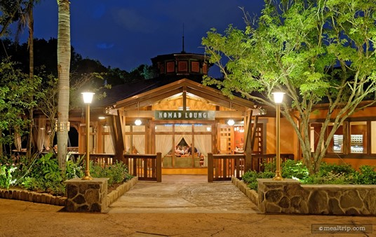 The main entrance to Nomad Lounge is located to the left of the main Tiffins entrance.