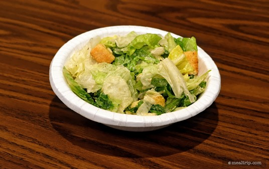 This is one of the side Caesar Salads from Pinocchio Village Haus.