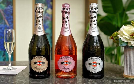 The three Martini samples at a 2015 Beverage Demo were the Prosecco, Rose, and Asti.