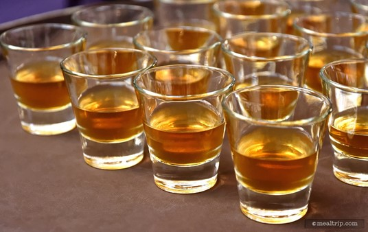 """Each guest at the Jack Daniels Mixology Seminar sampled three  beverages. The """"Old is New Again"""" (Olde-Fashioned), is pictured  here. The recipe also included a square piece of dark chocolate that you could add yourself (or eat separately)."""