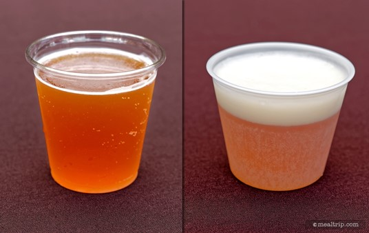 We encountered two cups sizes at Jake's Beer Festival... I would say these were 4oz and 5oz cups. There didn't seem to be any reason or rules as to which vendor had which cups.