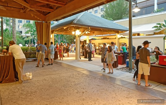 The Wantilan Pavilion is where most of Jake's Beer Festival happens. Most of the beer and food vendors are located on the outskirts of the main pavilion.