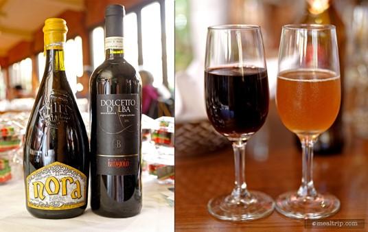 The Second Course Beverages for 2015's Italian Food, Wine vs Beer Pairing... Wine: Barbaresco - Batasiolo & Beer: Nora - Birra Baladin.