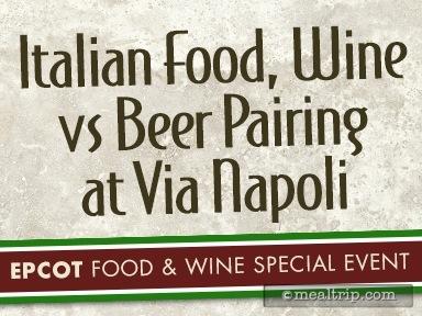 Italian Food, Wine vs Beer Pairing at Via Napoli Reviews and Photos