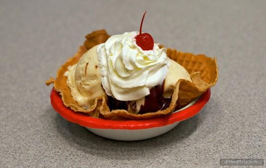 The Plaza's Ice Cream Sundae.