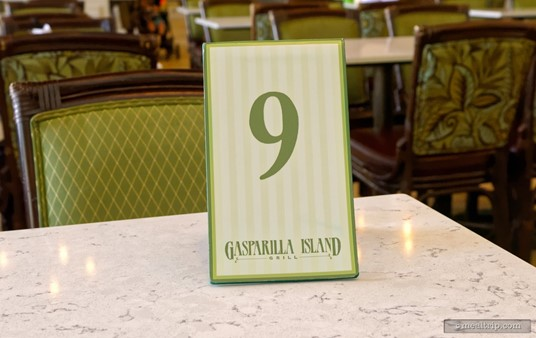 """Most Counter Service locations (in Disney """"Resorts"""" anyway) are using some sort of order identification system. At Gasparilla, you will get a number marker to put on your table after you have placed your order."""