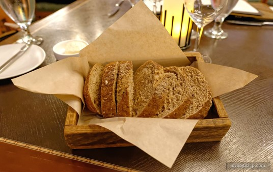 The complimentary bread box service at Artist Point. There's a little plate of salted butter around here somewhere too.