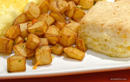 """The Country Potatoes are a """"side item"""" for a couple of the entrees on the breakfast menu."""