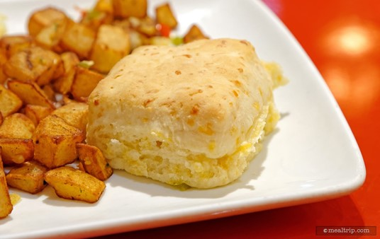 A House-made Buttermilk Cheddar Biscuit at Whispering Canyon Cafe.