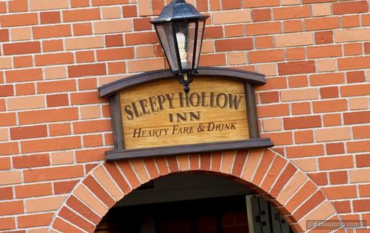 "Sign above the ""order window"" of Sleepy Hollow Inn."