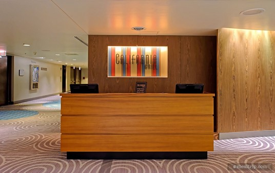The check-in desk for dinner at the California Grill is located on a different floor than the restaurant itself.