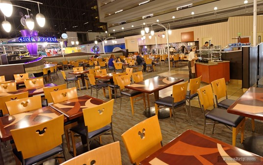 The Contempo Cafe's main seating area for breakfast (if you go really early, it might just be this empty).