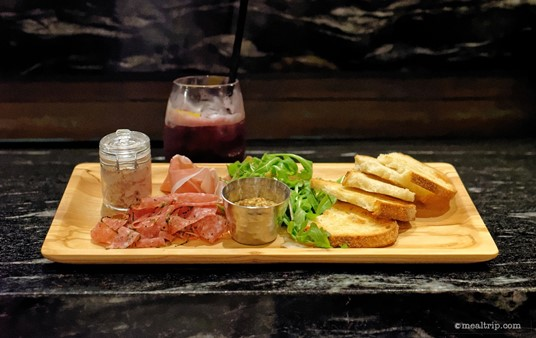 The Handcrafted Charcuterie board from Geyser Point Bar and Grill Lounge.
