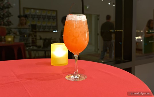 """A hero shot of the Rum Punch. Most of the """"open bars"""" at Disney """"should"""" be able to make this one. It's really easy to drink."""