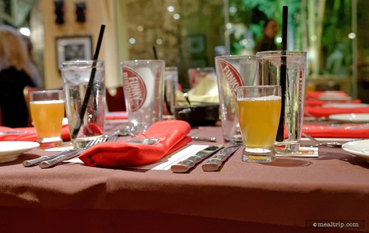 As guests entered, the first beer (Funky Buddha's Floridian) was already poured, along with a glass of ice water.
