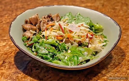 This is a variation of the                  Chopped Wood-Grilled Chicken Bowl. The chicken is marinated with Garlic and Olive Oil.