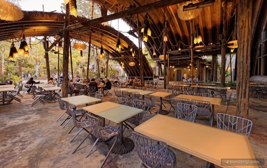 There is a good amount of covered outdoor seating at Satu'li Canteen.