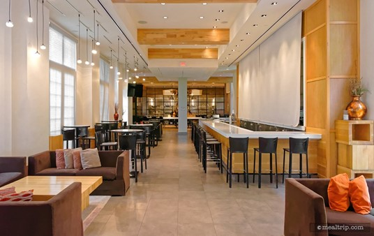 The main dining area at Il Mulino may at first glance appear long and narrow. The area opens up a good bit once you start moving into the space.