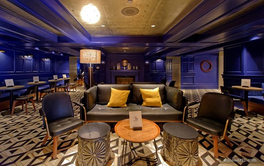 """For those of you that remember the origianl design for the Ale and Compass Lounge, this """"front"""" seating area used to be """"the whole place""""! There was a tiny bar on the far left-hand side. A redesign in 2017 changed all of that and doubled seating capacity in the process."""