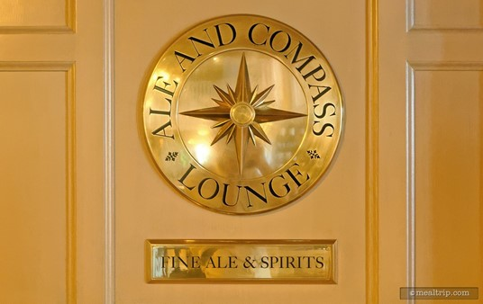 (Archive Photo — the Ale and Compass Lounge was redesigned late 2017.) The Ale and Compass Sign is really cool!
