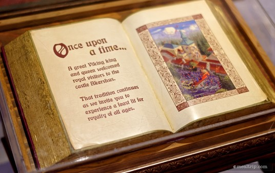 """There is an actual """"storybook"""" under glass located just after you enter the medieval castle."""