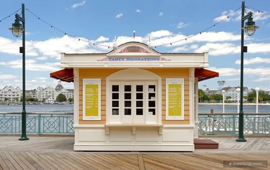 The cute little Funnel Cake kiosk at Disney's BoardWalk.