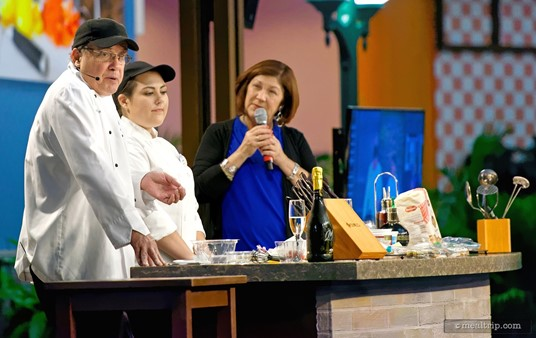 """The dessert-based Mix It, Make It Interactive demos seemed to be some of the more interactive programs. Pictured here is chef William Clark from the Grand Floridian. His """"Homemade Berrymisu"""" demo was a big hit."""