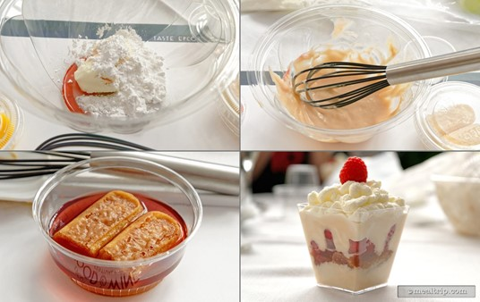 If you follow along with the presenter, you should end up with an amazing looking as tasting dessert!