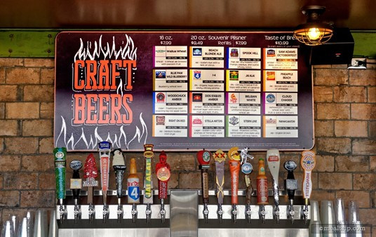 There are at least 16 craft beers on-tap at Flamecraft, a selection that will change a bit time to time reflecting the season! Tasting flights of beer are available.