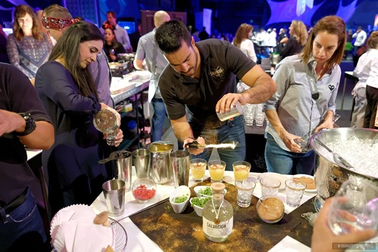 There are as many cocktails at Party for the Senses as there are small plates of food to try. Most are made as you watch!