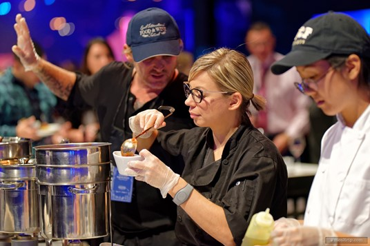 Chef Sarah Fioroni at a 2017 Party for the Senses.