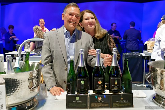 Vince Shook, President at Florida Orange Groves, Inc. and Winery was at a 2017 Party for the Senses with three different wines that are made in one of Florida's few wineries.