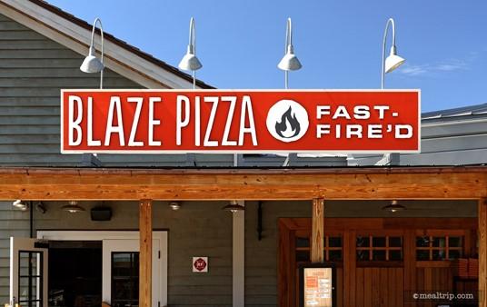 The main Blaze Pizza sign.