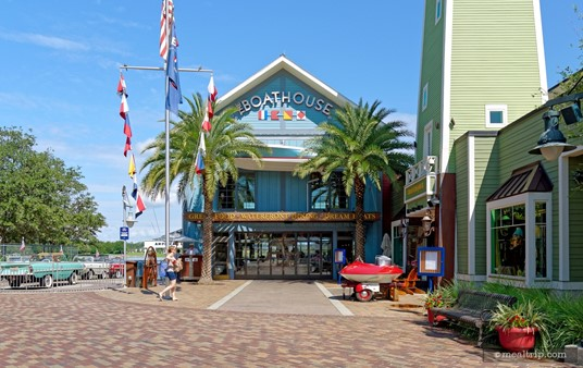 The main entrance for The Boathouse® in Disney Springs.