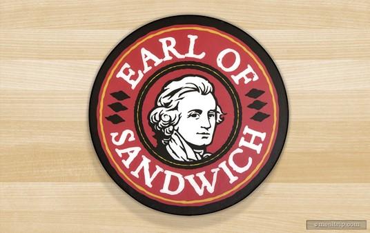 The Earl of Sandwich logo at Disney Springs.