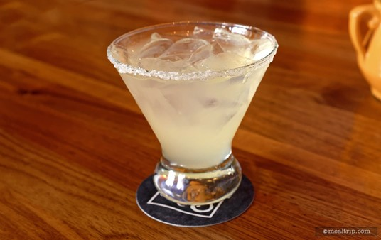 """The """"Frontera Margarita"""" features Casa Noble blanco tequila, Royal Combier, fresh lime juice, agave nectar, and a salt rim!"""