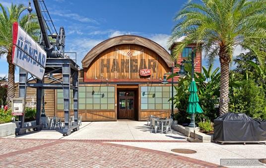 The main entrance for Jock Lindsey's Hangar Bar.