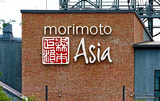 The Morimoto Asia sign can be seen best from a distance.