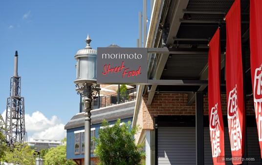It's so tiny! The Morimoto Asia Street Food sign.