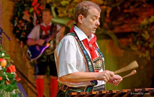 A glockenspiel feature during one of Oktoberfest Musikanten's performances.