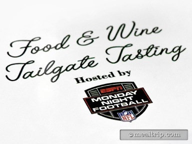 Food & Wine Tailgate Tasting Hosted by ESPN Monday Night Football Reviews and Photos