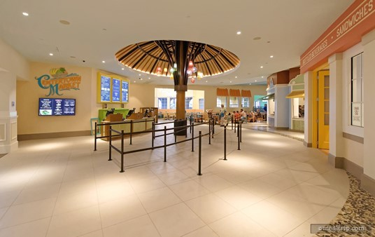 Here's a look at the entrance to the Centertown Market from the lobby.
