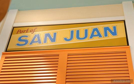 The Port of San Juan sign at Centertown Market.