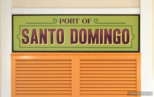 The Port of Santo Domingo sign at Centertown Market.