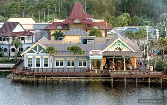 This is the front of Sebastian's Bistro, as seen from the air.
